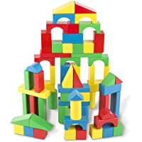 Melissa & Doug Wooden Building Blocks Set (100 Blocks in 4 Colors)