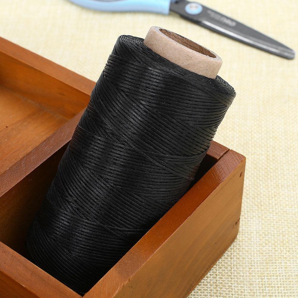 homiki 1/mm 260/M Ramie cord/ón c/á/ñamo natural encerado rosca redondo piel cartera Craft Costura para DIY herramienta Mano costuras