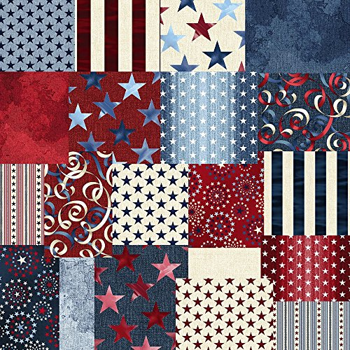 benartex-oh-my-stars-precut-5-inch-charm-pack-cotton-fabric-quilting-squares-assortment-dover-hill-u