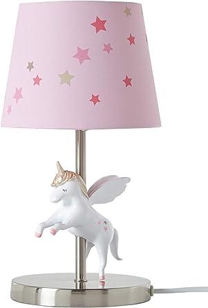 VERTBAUDET Lampe de chevet Licorne Rose TU: Amazon.fr ...