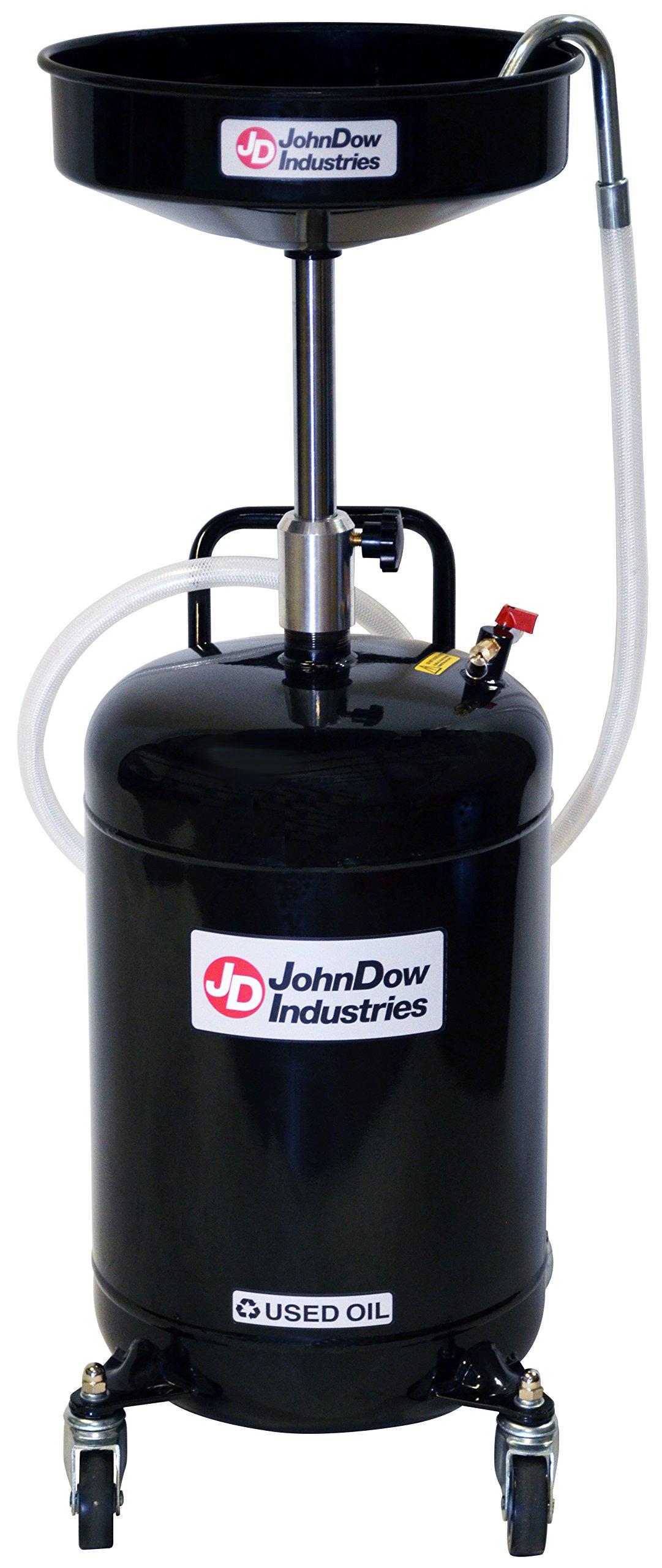 John Dow Industries JDI-18DC 18-Gallon Self-Evacuating Portable Oil Drain by JohnDow Industries