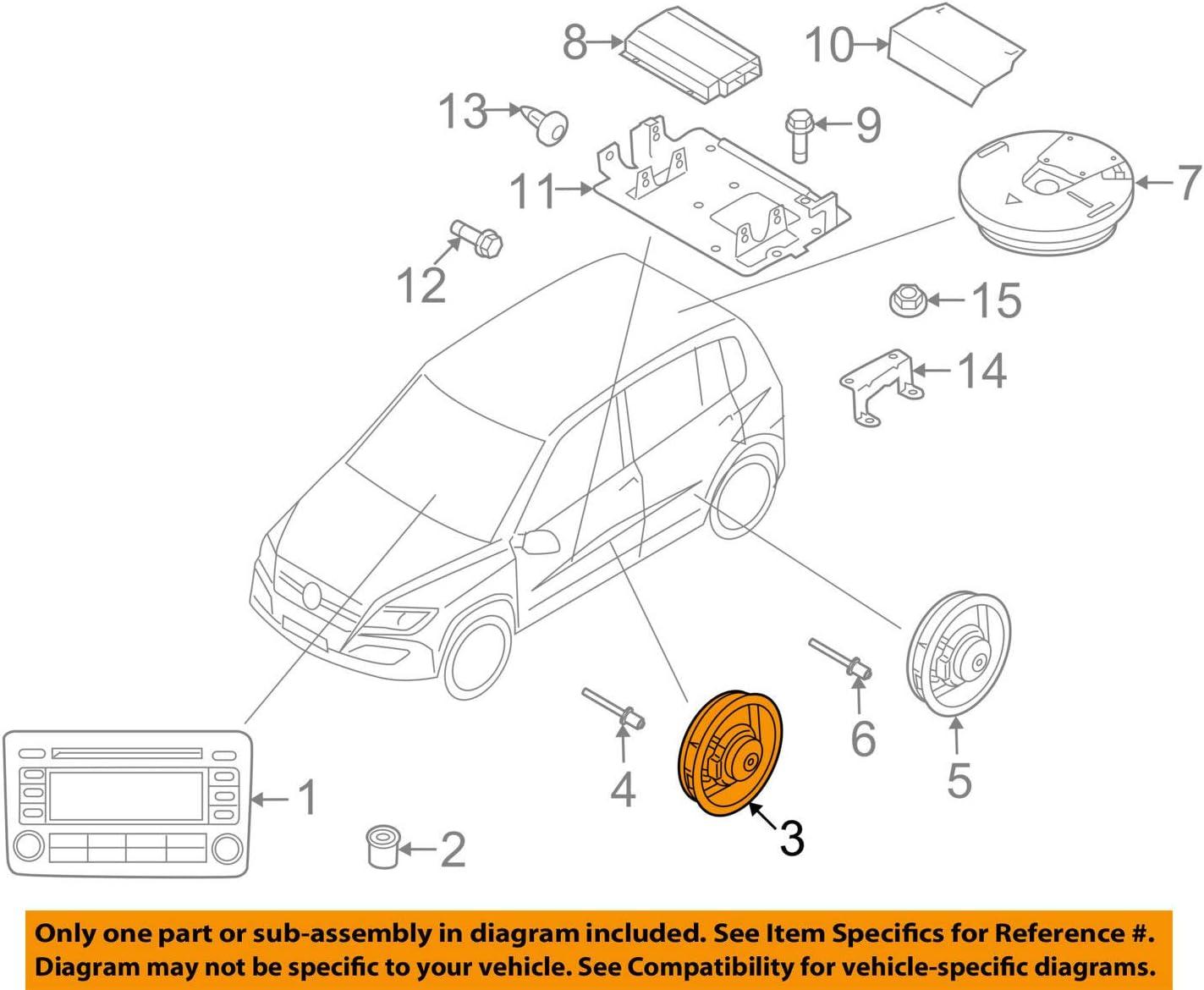 VW VOLKSWAGEN OEM 10-16 Tiguan Stereo Audio Radio-Front Door Speaker 5N0035454B