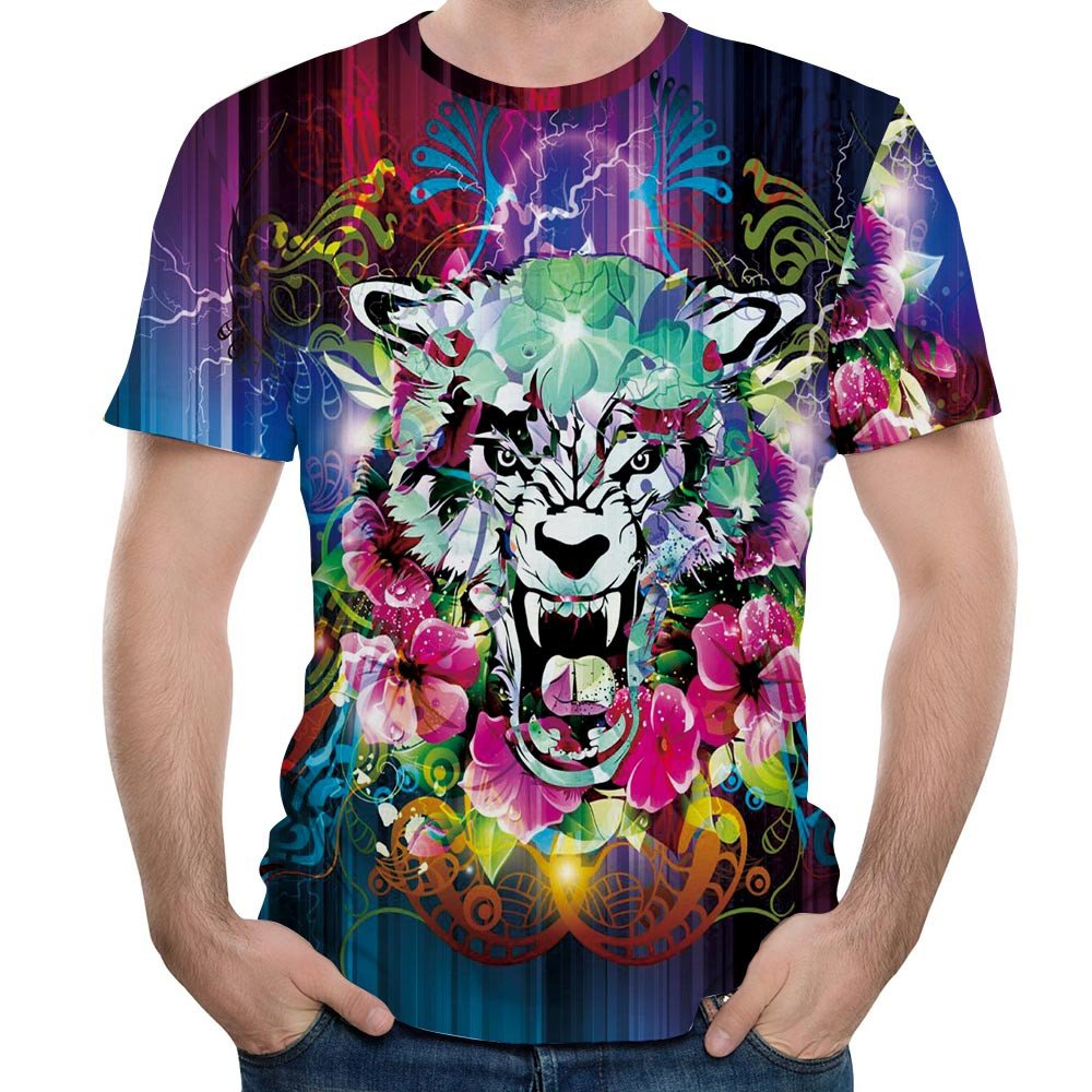 3D Sports T-Shirt for Men,Yamally Novelty Printed Tank Tops Short Sleeve Sport Pullover Sweatshirt Loose Tops Blouse