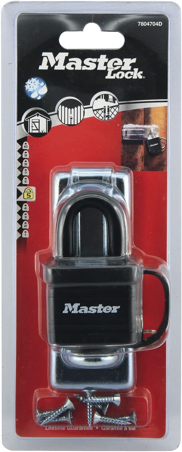 Key Lock Shed Lock Best Used as a Gate Lock 3XPadlock Laminated Steel Padlock with Hasp Cabinet Lock and More