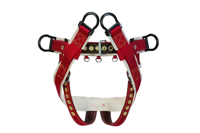 Red   White Large Red   White Large Weaver Leather WLC 160 Saddle with 2  Nylon Leg Straps