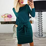Womens Casual Long Sleeve Party Bodycon Sheath