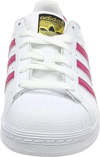 Adidas Superstar Foundation J Big Kid/'s Shoes White-Pink-White b23644