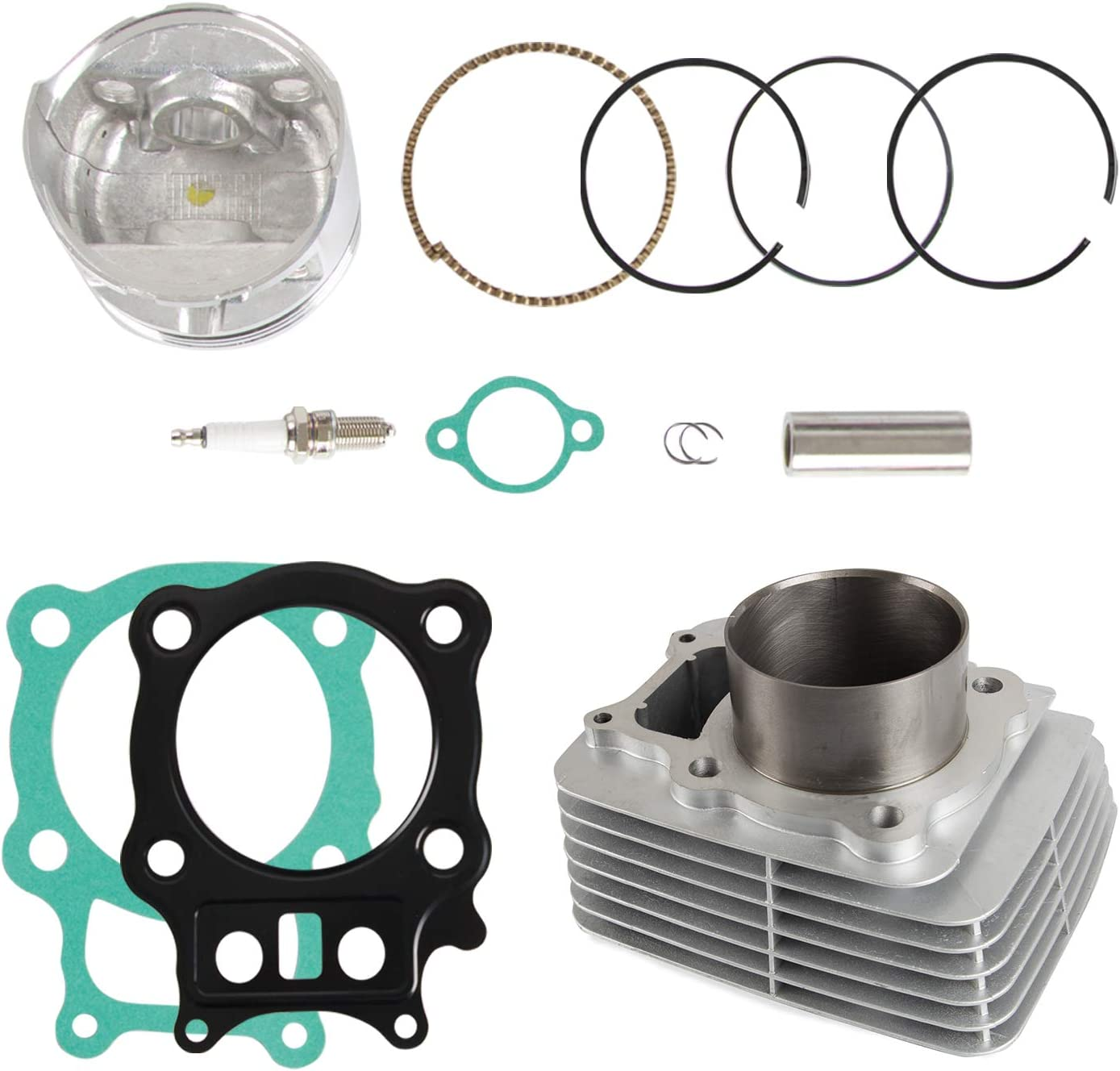 Cylinder Piston Gasket Assemblies Top End Kit Compatible with Honda TRX350 Rancher350 2000-2006 Replace 12100-HN5-670