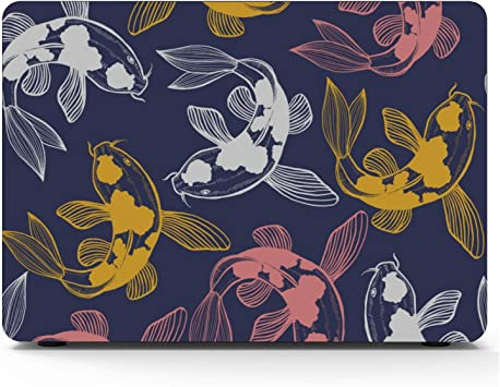 MacBook Computer Case Sea Creatures Ornamental Fish Squid Plastic Hard Shell Compatible Mac Air 11 Pro 13 15 Laptop Pro Accessories Protection for MacBook 2016-2019 Version