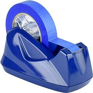 Acrimet Premium Desktop Tape Dispenser Jumbo Non-Skid Base (Heavy Duty) (Deep Blue Color)
