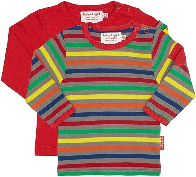 Toby Tiger Rayas Grises Camisa de Manga Larga para niño 2er Pack-1-2 yrs 92cm: Amazon.es: Ropa y accesorios