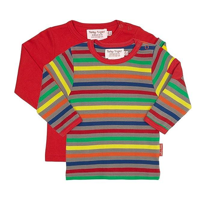 ba721c3e3 Toby Tiger Rayas Grises Camisa de Manga Larga para Niño 2er Pack-6-12 mths  80cm  Amazon.es  Ropa y accesorios