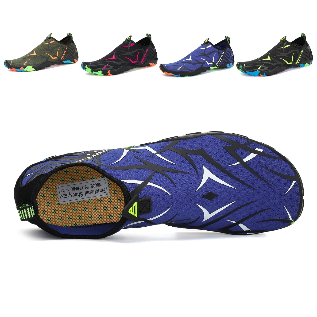 Leaproo Men Women Water Shoes Aqua Socks Barefoot Swim Yoga Surf Shoes for Beach Pool Diving Walking