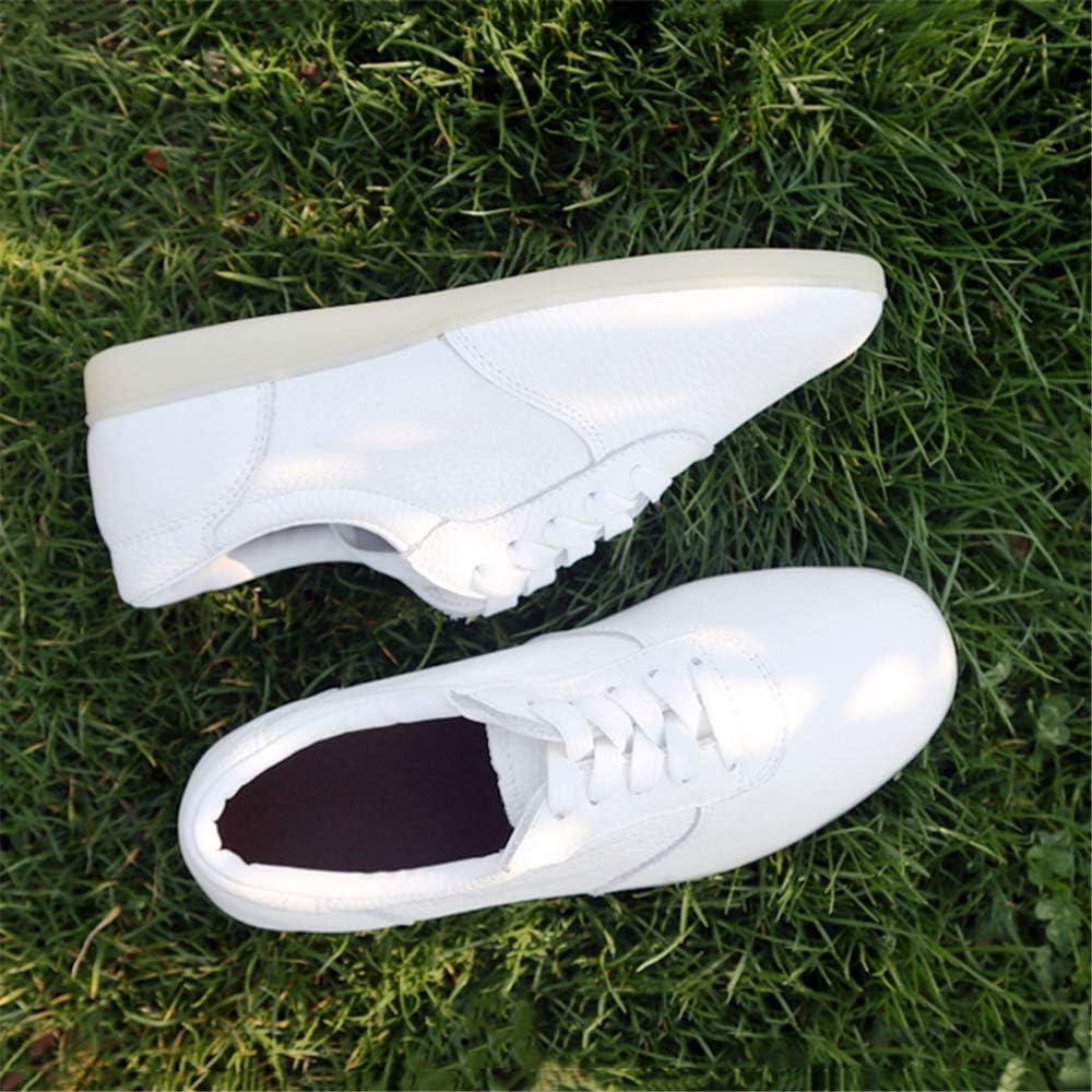 Pelle Oxhide Scarpe Taekwondo Formazione,Bianca,34 Scarpe di Arti Marziali con La Classica E Gomma Oxford Sole Uomo Donna YXZNB Scarpe Tai Chi