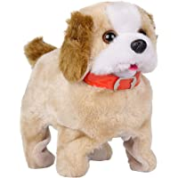 Galaxy Hi-Tech® Battery Operated Fantastic Jumping Walking Barking & Jumping Puppy with Sound and Music Waging Tail,That Flips Over Toy Best Gift for Toddlers and Kids