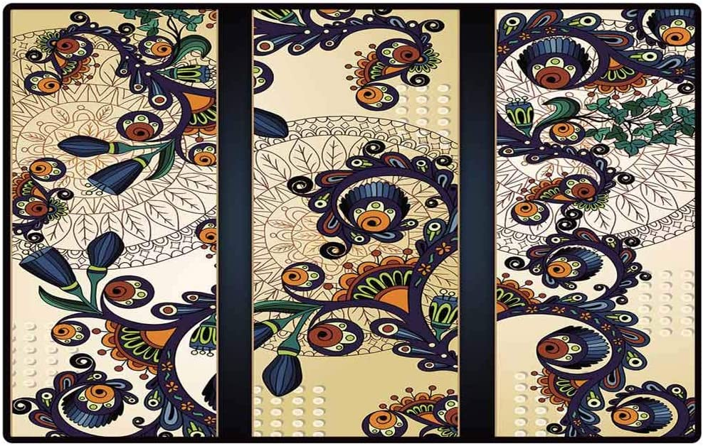 amazon com renteriadecor throw rug paisley and batik background set of three abstract hand drawn vector cards series of image template frame design for card door mat large shoe scraper pet mat amazon com