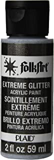 product image for FolkArt Extreme Glitter Acrylic Paint in Assorted Colors (2 oz), 2797, Black