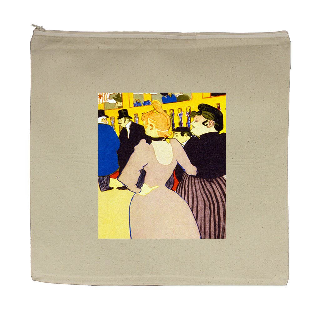 At The Window (Mary Cassatt) Canvas Zipper Tote Bag Makeup Bag