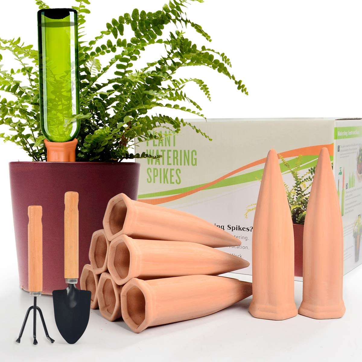 Automatic Plant Waterer Terracotta Self Watering Spikes Drippers Irrigation System for Vacation or Holiday (8pack)