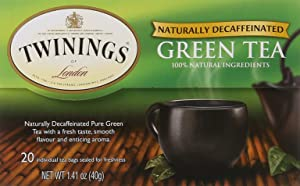 Twinings of London Decaffeinated Green Tea Bags, 20 Count