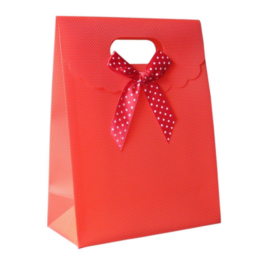 10 unidades Plá stico Multicolor lazo Bolsa de Regalo joyas boda Navidad Fiesta del paquete gefä lligkeiten dulces almacenar Bolsa de Caja de Regalo con velcro Rojo Wilotick
