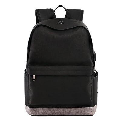 chic Student Backpack, School Backpack for Laptop, Unisex College Bookbag Back Bag with USB Charging Port, Fits 15.6 inch Laptop, Travel Water-resistant High School Rucksack for Men/Women, Boys/Girls