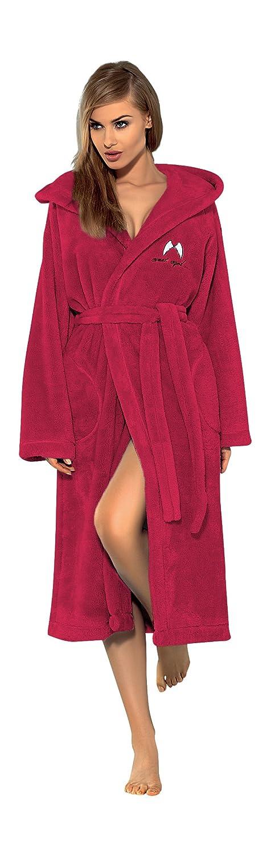 Women Luxury SOFT Bath Robe Housecoat Dressing Gown Bathrobe Tie Belt and Hood, Size S M L XL