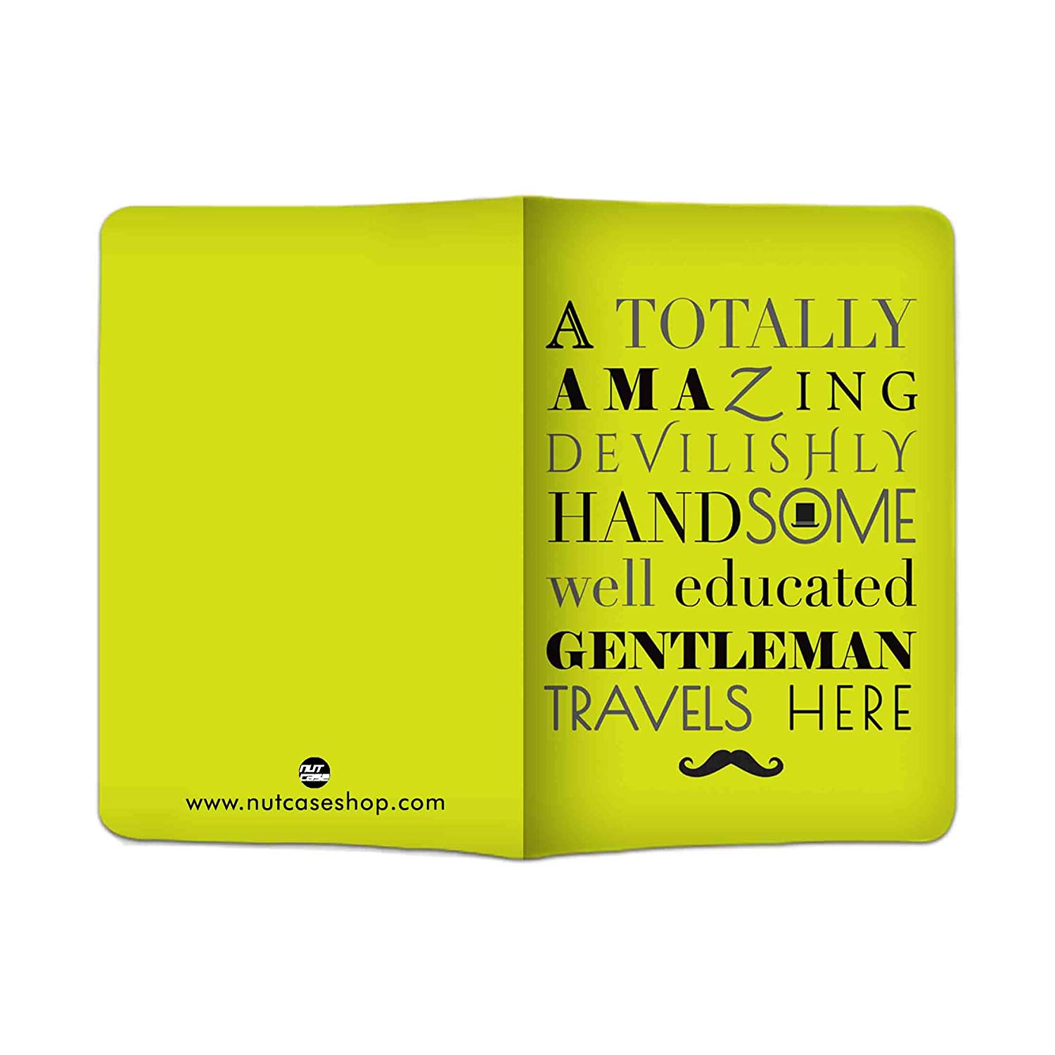 a3c273d6b Nutcase Yellow Passport Cover  Amazon.in  Bags