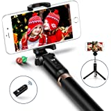 Selfie Stick,JSAUX Bluetooth Handheld Tripod 3 in 1 Foldable Extendable Selfie Stick Monopod with Detachable Remote for Samsung Galaxy S8 S8+,Note 8 5,iPhone X 8 7 6s 6 plus, Nexus, LG, Moto and More