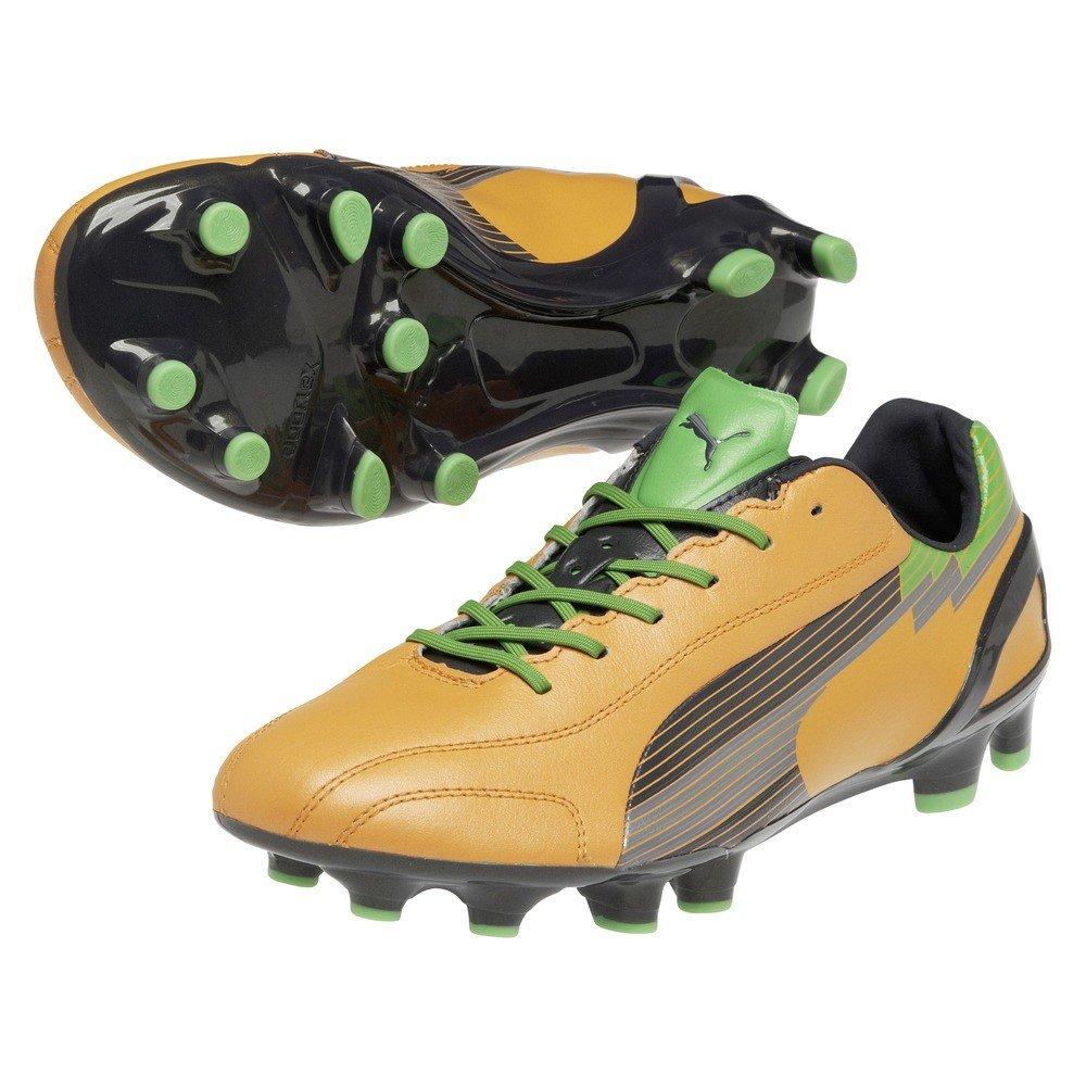 Puma Nocken-Schuh evoSPEED 1 K FG flame orange-team charcoal-classic green, Größe Puma 13