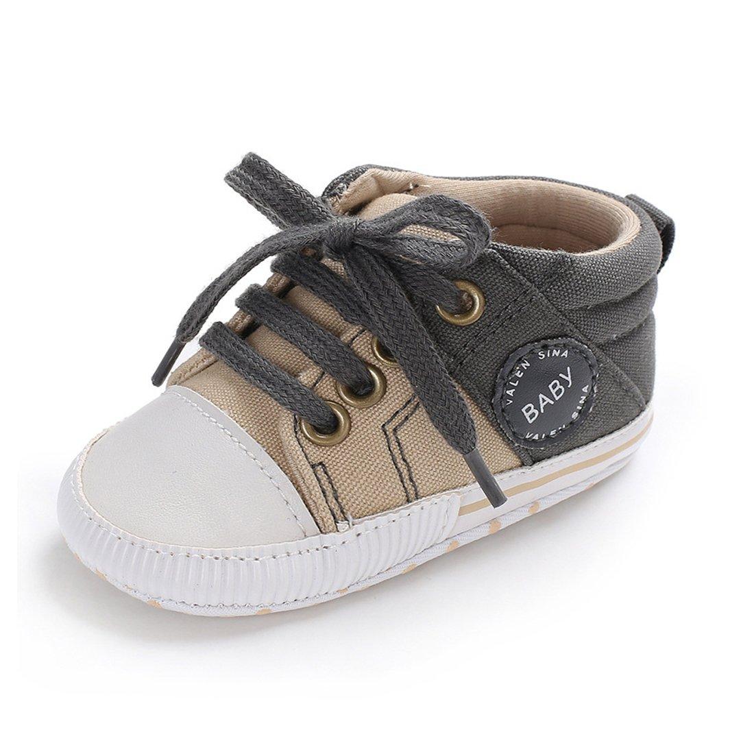 Babycute Chaussures pour nouveau-nés et bébés, unisexes, semelle souple, antidérapantes, en toile,...