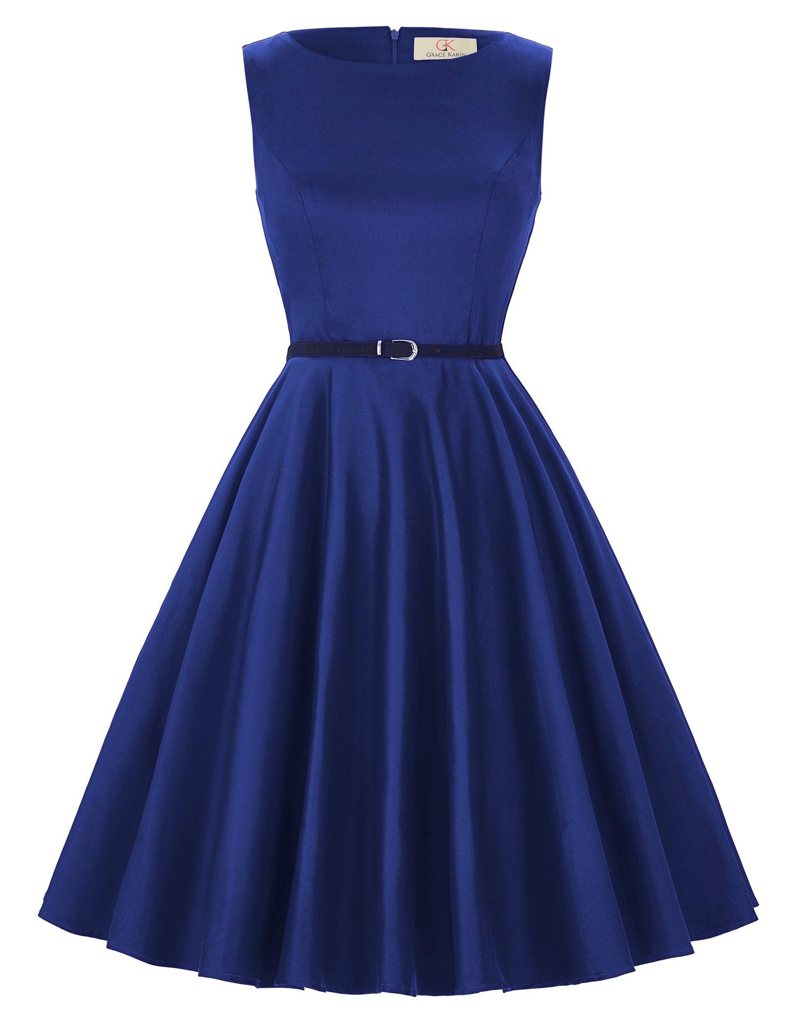GRACE KARIN 1950's Cocktail Dresses for Women Audrey Hepburn Size S F-54