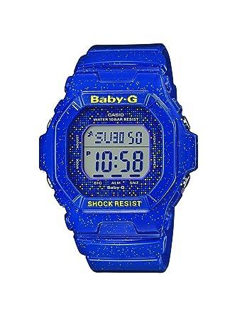 Casio Reloj Digital para Mujer de Cuarzo con Correa en Resina BG-5600GL-2ER: Casio: Amazon.es: Relojes