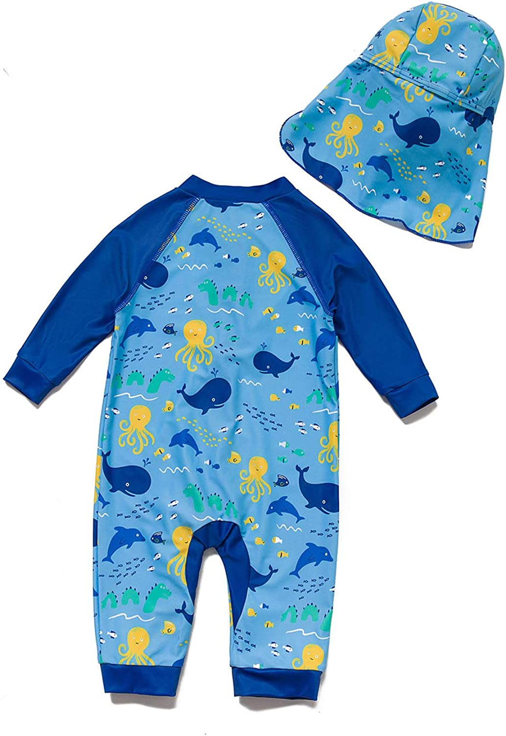 BONVERANO Baby/&Toddler Boys Sunsuit UPF 50 Sun Protection One Piece Swimsuit with Full-Length Zipper