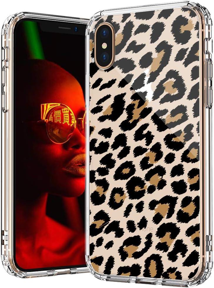 Funda para iPhone Xs Max MOSNOVO, estampado de leopardo