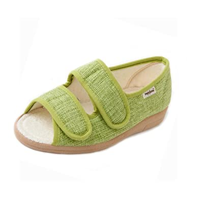 Womens Light Weight Wide Fitting Casual Shoes Ladies Sandals Strap Fastening