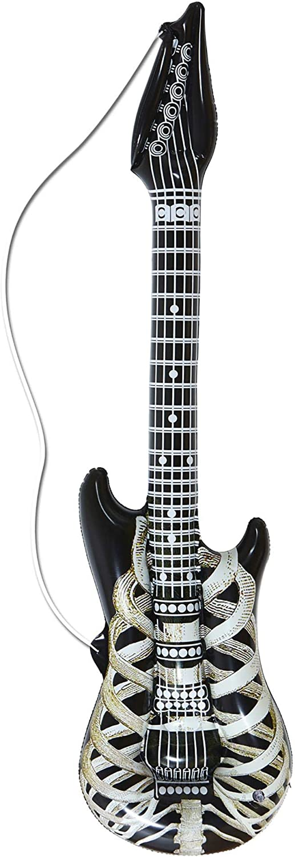 WIDMANN?Guitarra hinchable con esqueleto, Unisex-Adulto, Negro, 105cm, VD-WDM04753