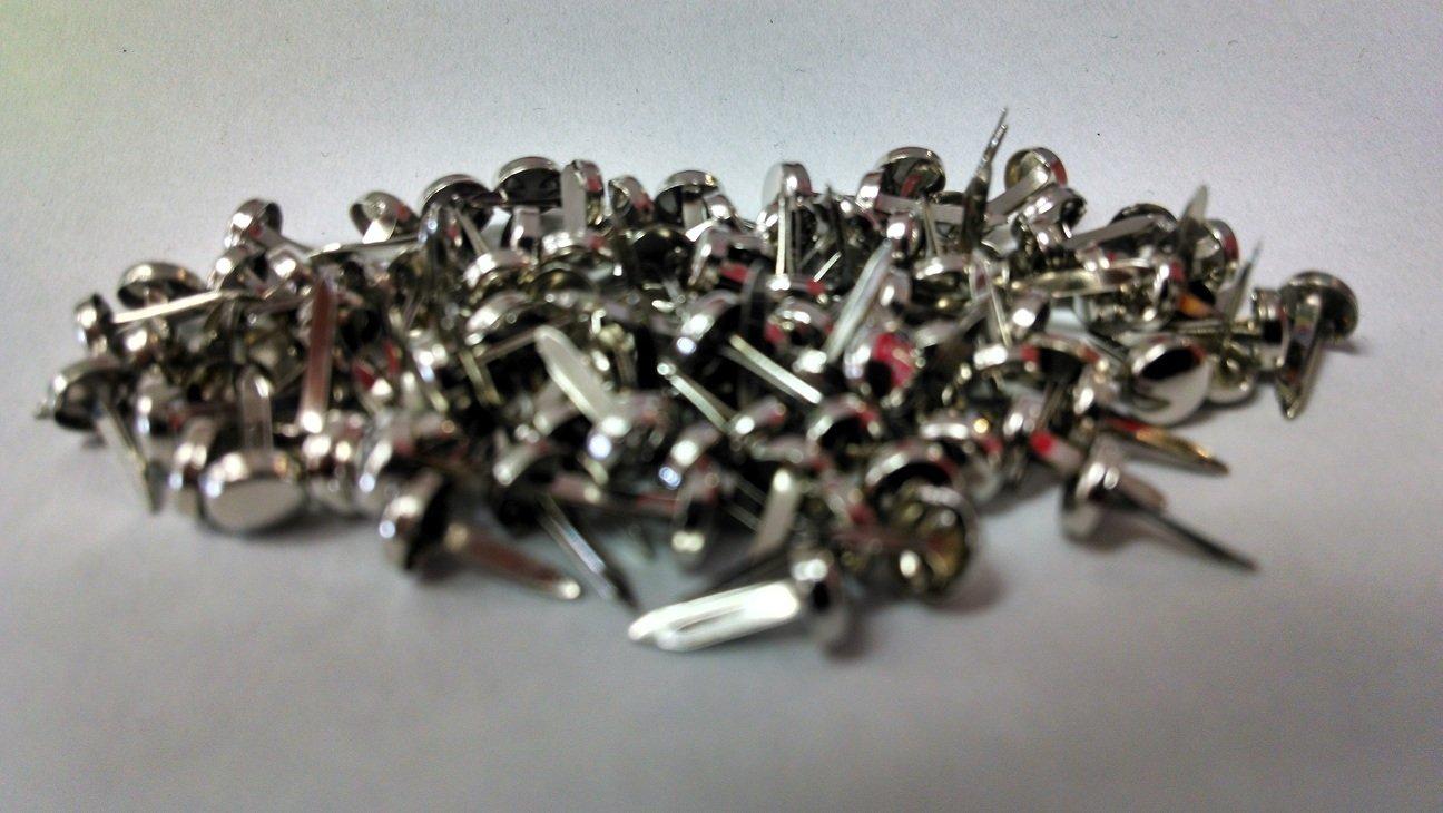 Mini Round Scrapbooking Brads Metallic Silver