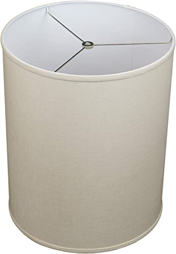FenchelShades.com 14 Top Diameter x 14 Bottom Diameter 17 Height Cylinder Drum Lampshade USA Made Designer Linen Natural