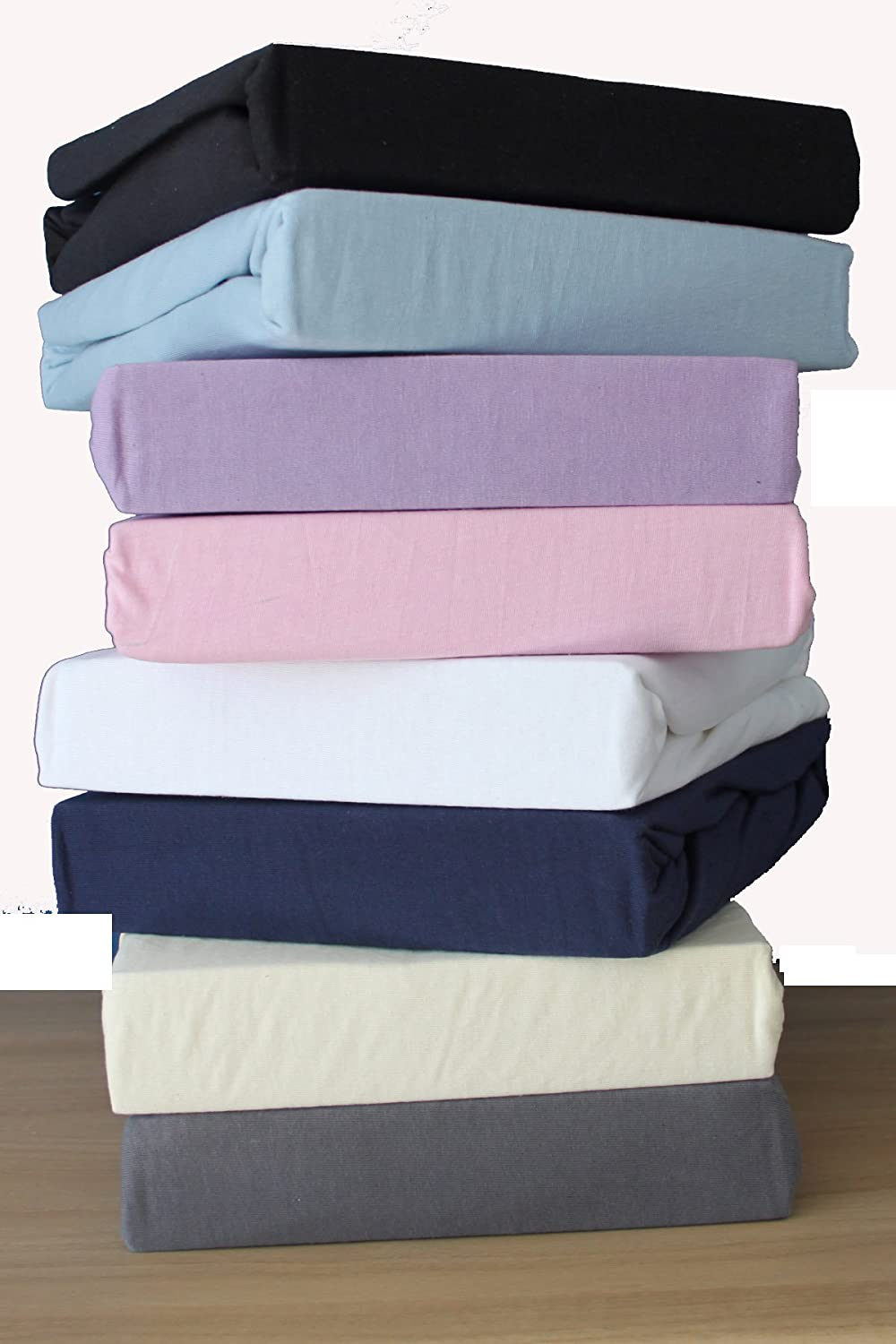 Blue Dudu N Girlie Next2Me Cotton Thick Jersey Crib Fitted Sheet