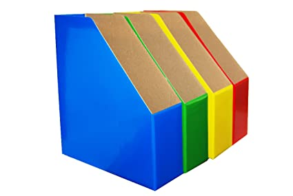 MAGAZINE FILE HOLDERS BOLD COLORS COORDINATE IMPORTANT FILES BY Custom Colorful Magazine Holders