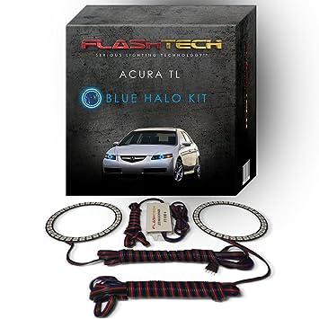 Amazoncom Flashtech Acura TL Blue Single Color LED Halo Ring - Acura tl halo headlights