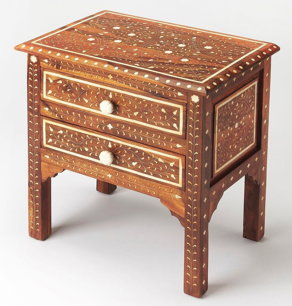 Traditional Accent Chest in Distressed Medium Brown Finish 797074