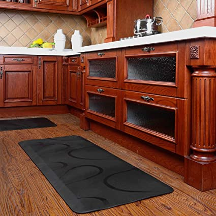 Image Unavailable. Image not available for. Color: Chastep Premium Long Kitchen Floor Mats Non Slip Anti Fatigue ...
