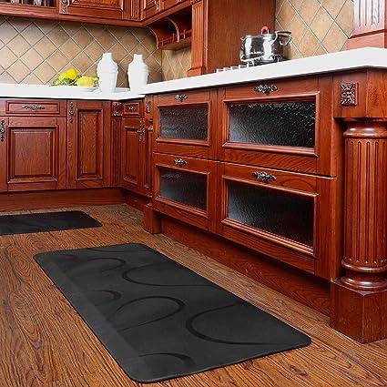 kitchen floor mats cushioned chastep premium long kitchen floor mats non slip anti fatigue mat 24quotx60quot no amazoncom