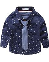 Mud Kingdom Little Boys Shirt and Tie Set Cute Stars