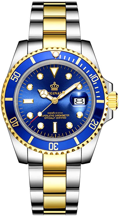 Up to 30% off on Mens Luxury Watches Ceramic Bezel Sapphire Glass Luminous Quartz Silver Gold Two Tone Stainless Steel Watch
