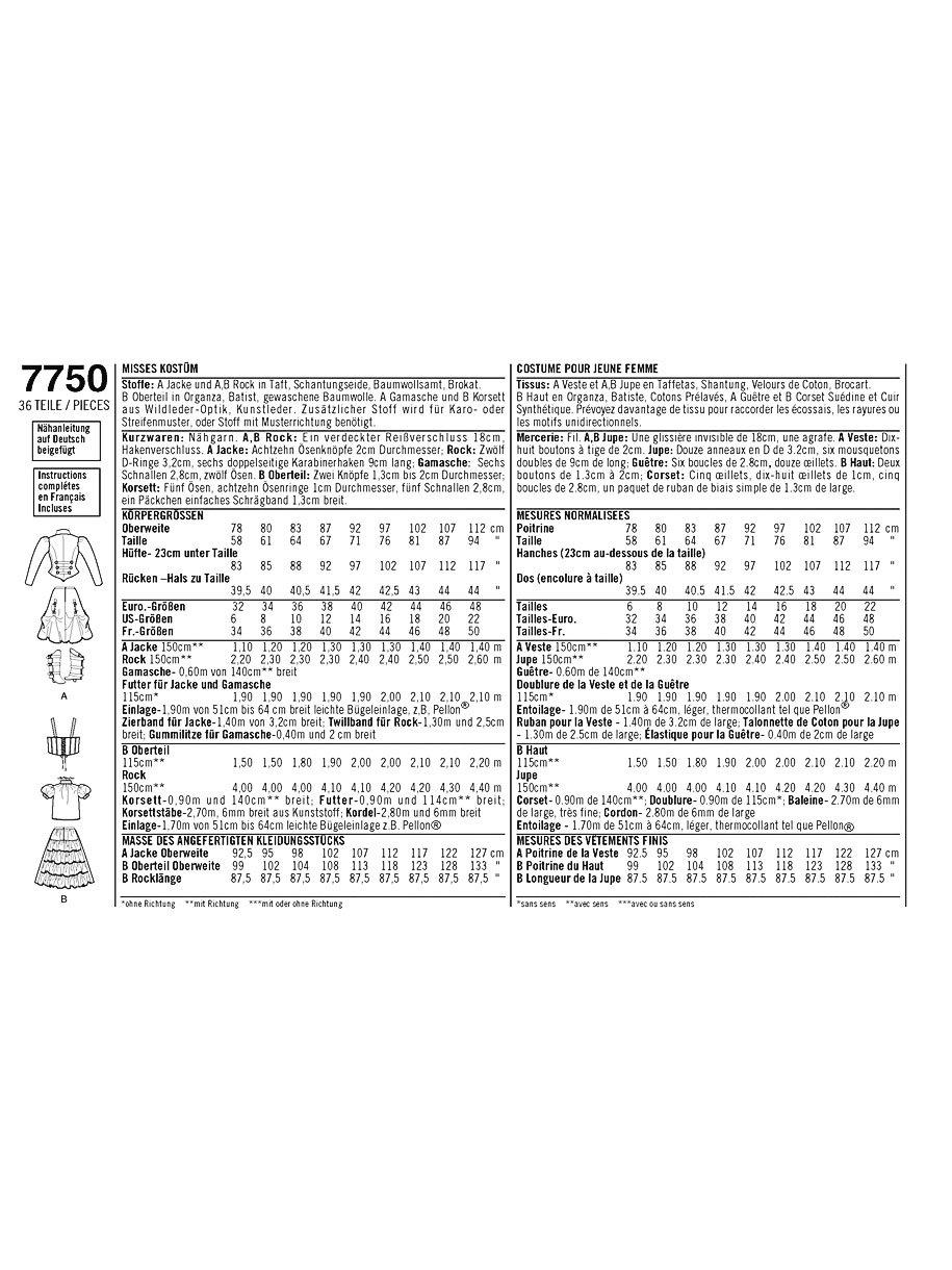 Simplicity 7750.R5 - Patrones de costura para disfraces históricos ...