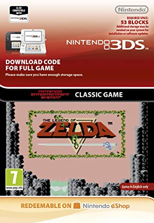 Legend of Zelda NES [3DS Download Code]: Amazon co uk: PC