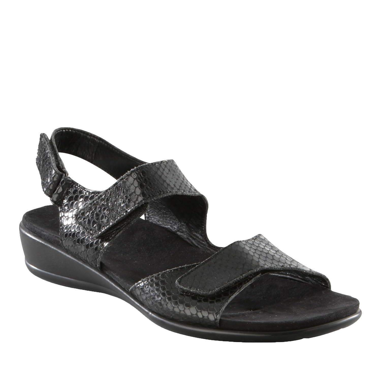 Easy Spirit Womens Hartwell Open Toe Casual Ankle Strap Sandals B004HKMGV0 8 B(M) US|Black Snake